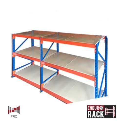 3 shelf, endurorack, heavy duty longpsan shelving, longspan shelving, shelving, 2 bays