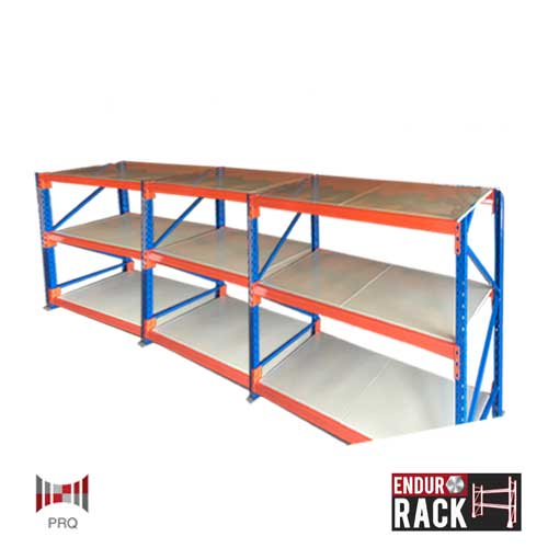 Heavy duty endurorack longspan shelving 3 bays of 3 for 3 bays