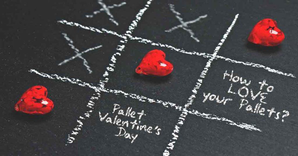 Pallets, Valentines, Valentines day, pallet racking