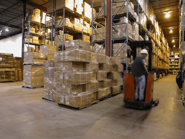 movement of stock in warehouse