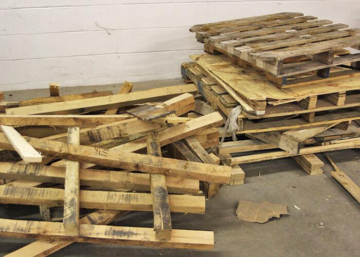 Broken Wooden pallets