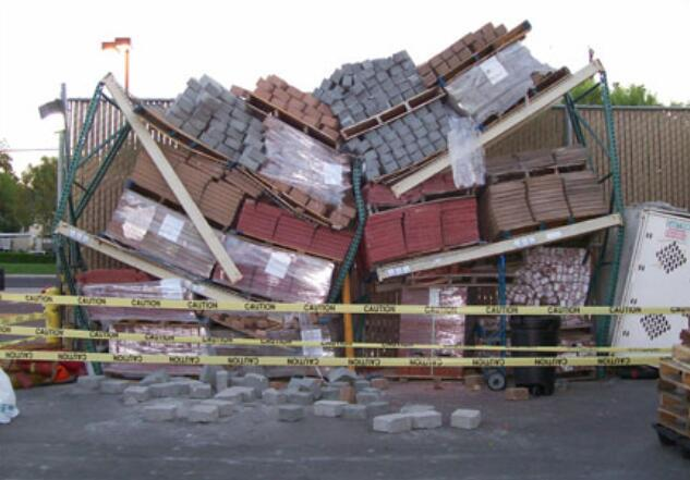 overloaded pallet racking