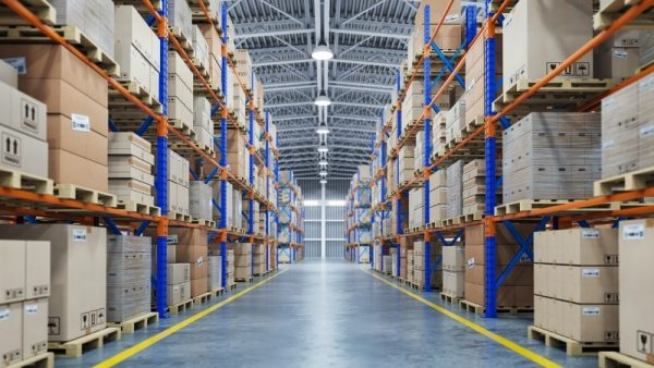 a perfectly organized warehouse