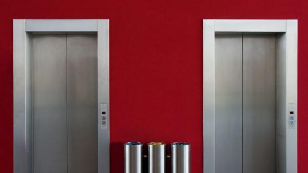 two tall elevators
