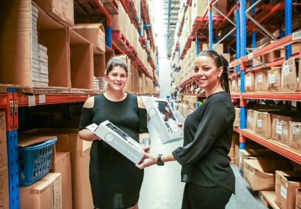 Two women customers shopping at a warehouse
